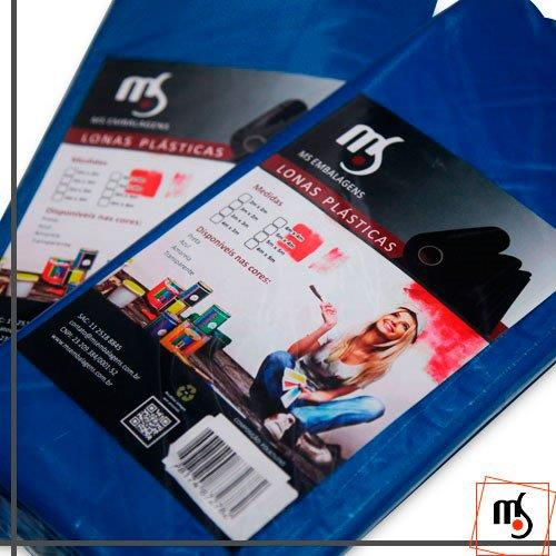 Lona plástica azul 3x4