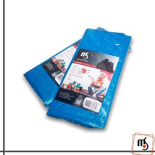 Lona plástica azul 4x4
