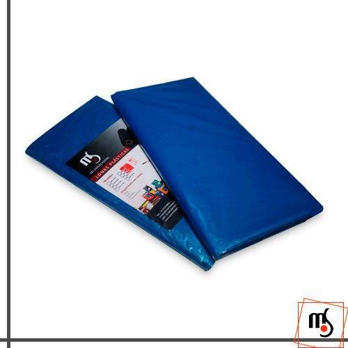 Lona plástica azul impermeável